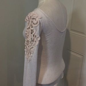 Scoop back lace thermal long sleeve crochet boho